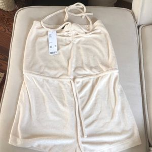 Ivory terry romper